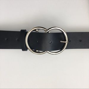Accessories - Double Ring Black Belt
